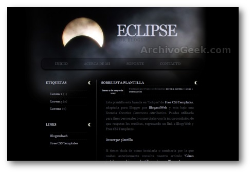 Eclipse - plantillas blogger
