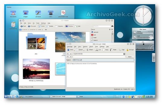 kde 4.3 screenshot en linux