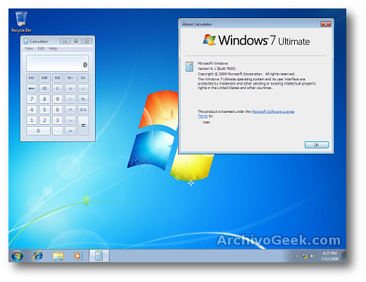 Windows 7 rtm final build 7600